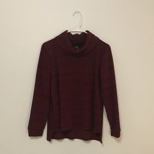 Burgundy Turtleneck Sweater